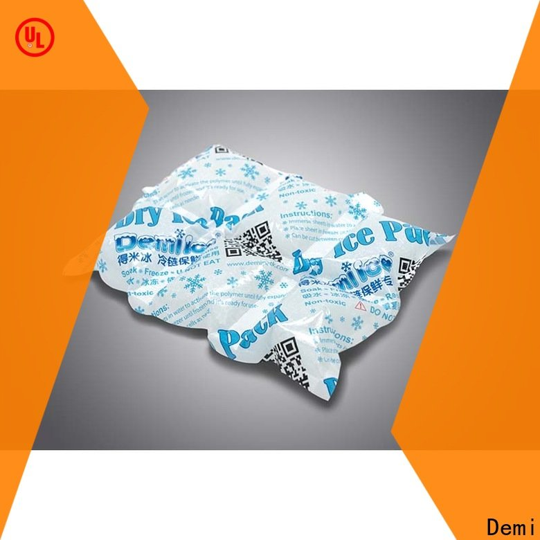 Demi safty dry ice packs for shipping to ensure the best possible food for indoor
