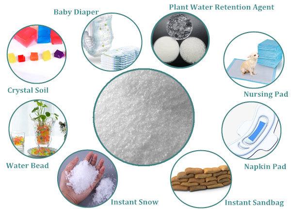 super absorbent polymer application