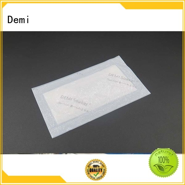Demi pad chicken absorbent pad maintaining great product presentation for food